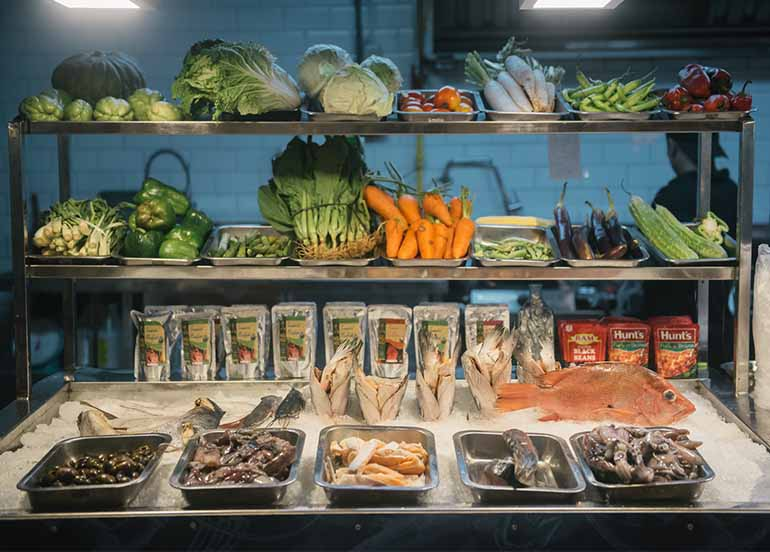 Fresh Seafood and Produce at Paluto