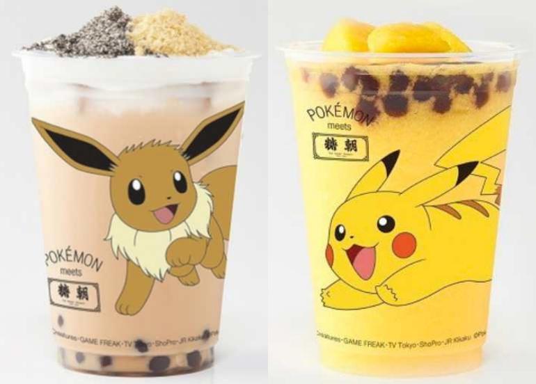 pokemon, bubble tea, milk eta, boba