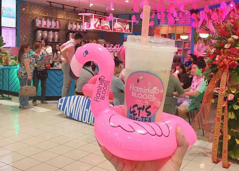Milk Tea in Flamingo Floatie