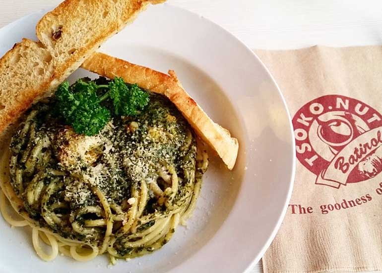 Malunggay Pesto Cream Pasta from Tsoko Nut Batirol