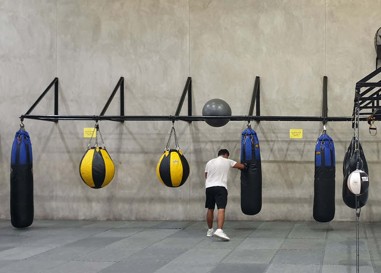 Elite Boxing Interior with punching bags