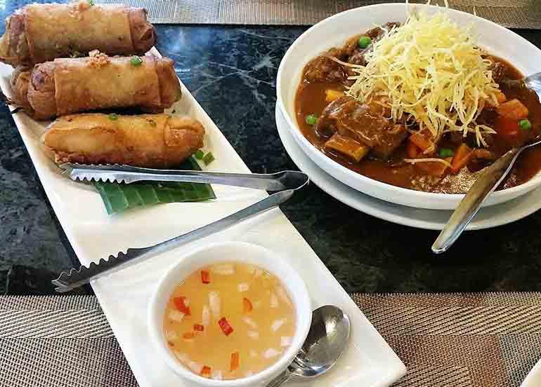Kaldereta and Lumpia from Tipulo Modern Filipino Cuisine