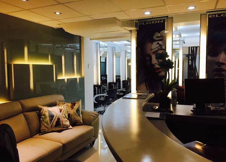 Interior of Dot Zero Hair Studio