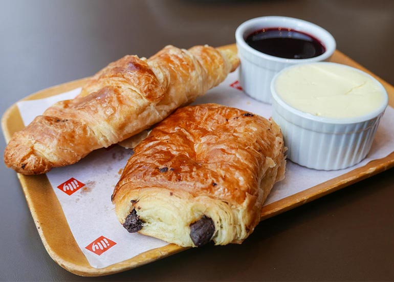 Croissants from Illy Caffe