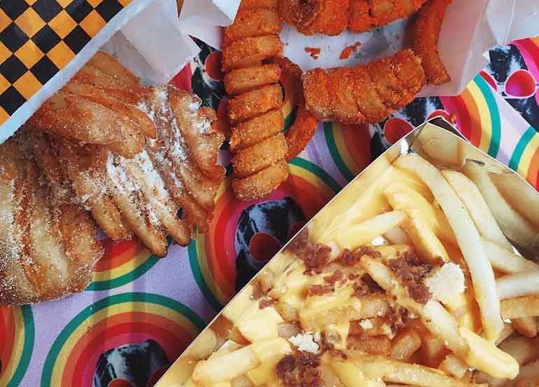 Crinkle Cut Fries, Standard Cut Fries, and Twister Fries from Potato Giant