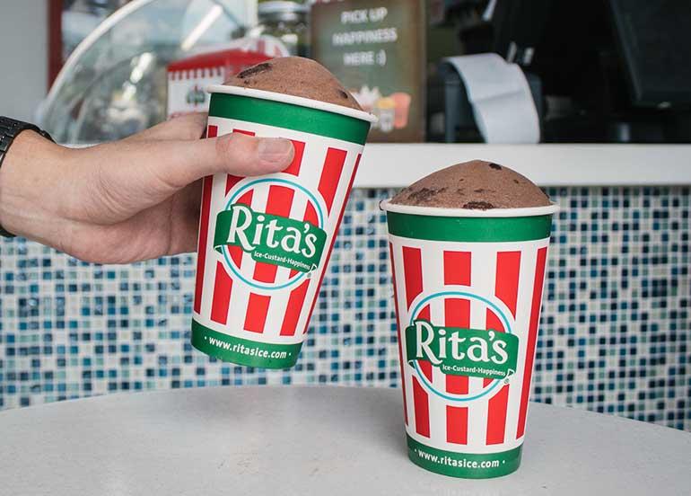 Fudge Brownie Ice from Rita's Italian Ice