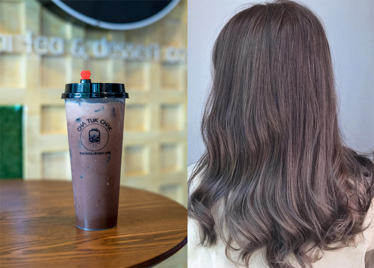 L - Cha Tuk Chak Koko Yen Milk Tea R - Brunette Hair
