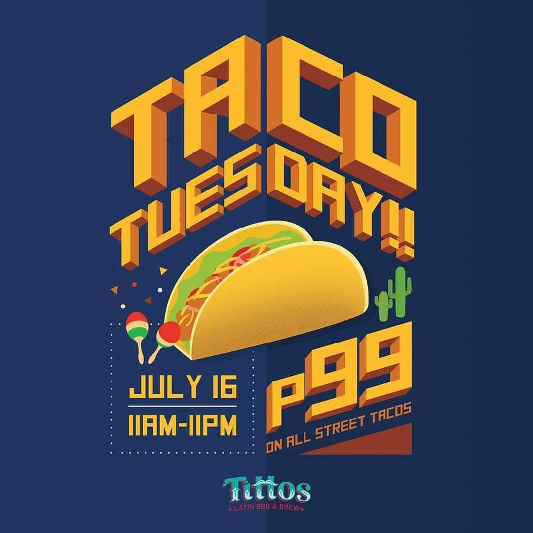 Taco Tuesday Poster from Tittos Latin BBQ & Brew