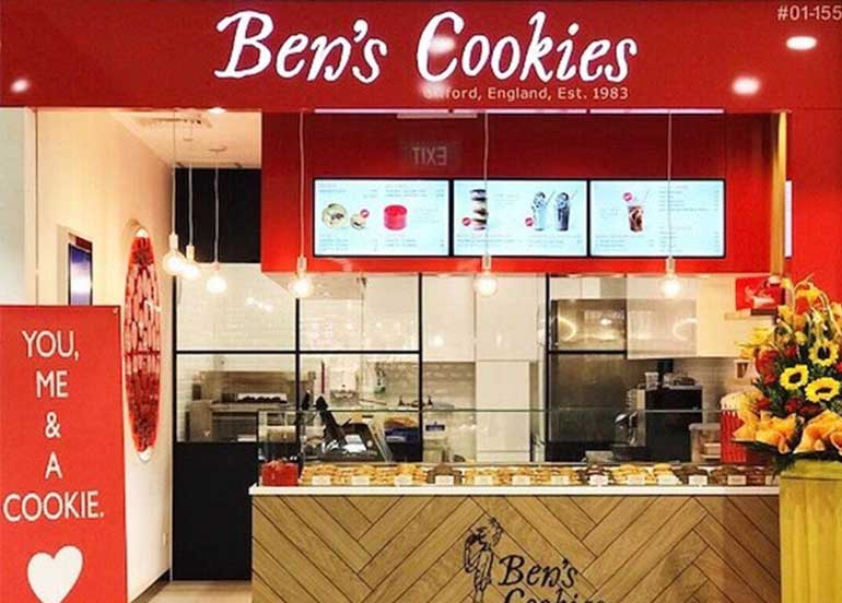 Ben's Cookies Singapore Stall