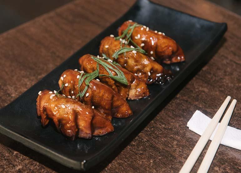 Fried Gyoza from Kampai Sushi Bar