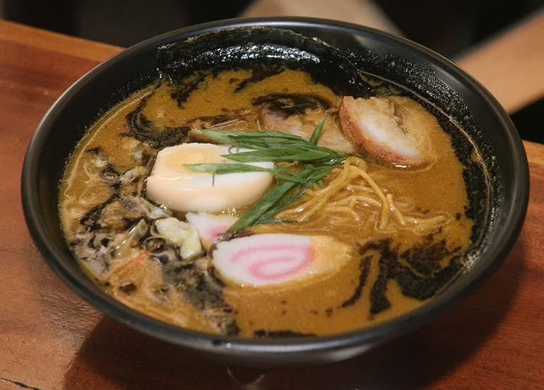 Black Garlic Ramen from Kampai Sushi Bar