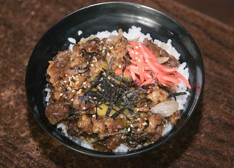 Beef Gyudon from Kampai Sushi Bar