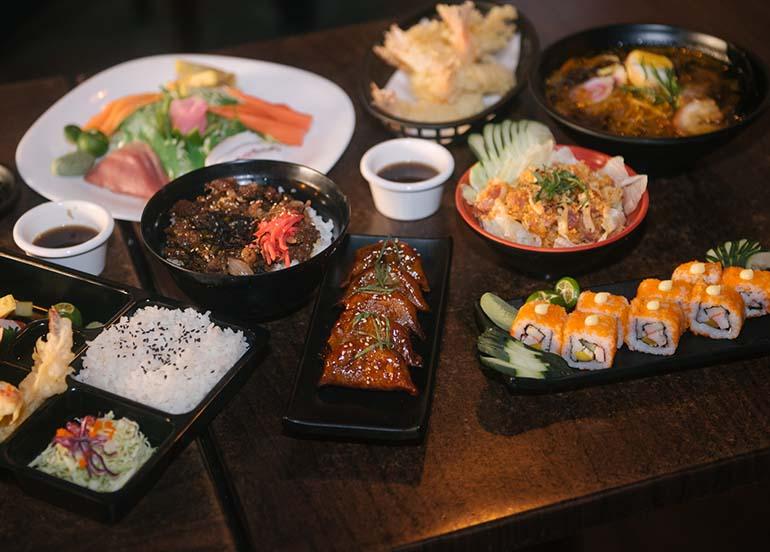 Japanese food from Kampai Sushi Bar