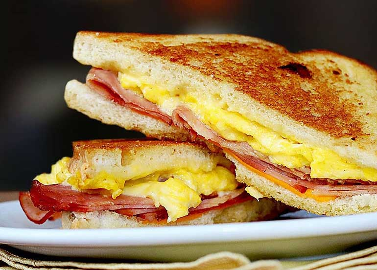 Ham, Cheese, and Egg Sandwich from Denny's