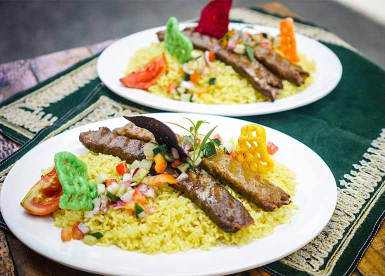 Chelo Kabab Combination from Healthy (Halal) Kabab Express