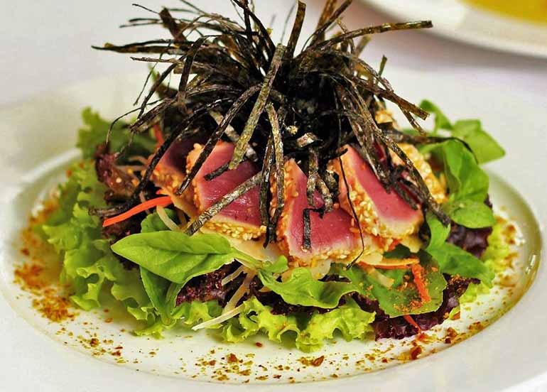 Seared Tuna Salad on Wasabi Vinaigrette Dressing by Top of the Citi by Chef Jessi