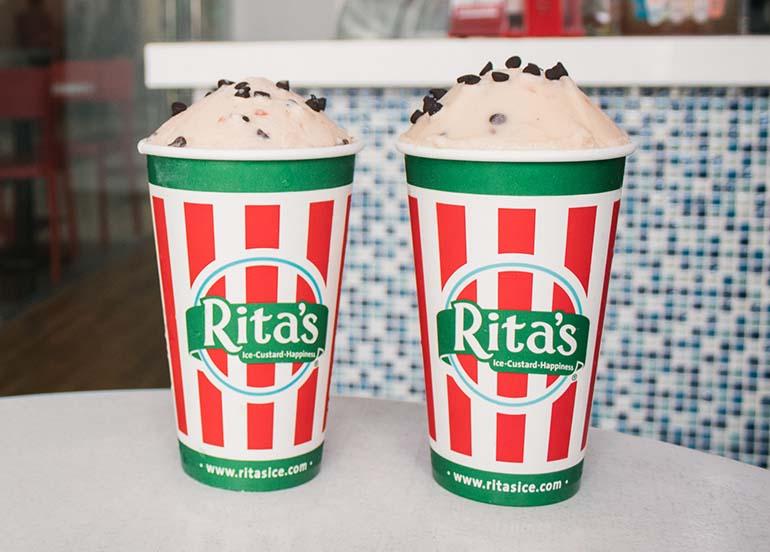 Banana Split Cream Ice from Rita's Italian Ice