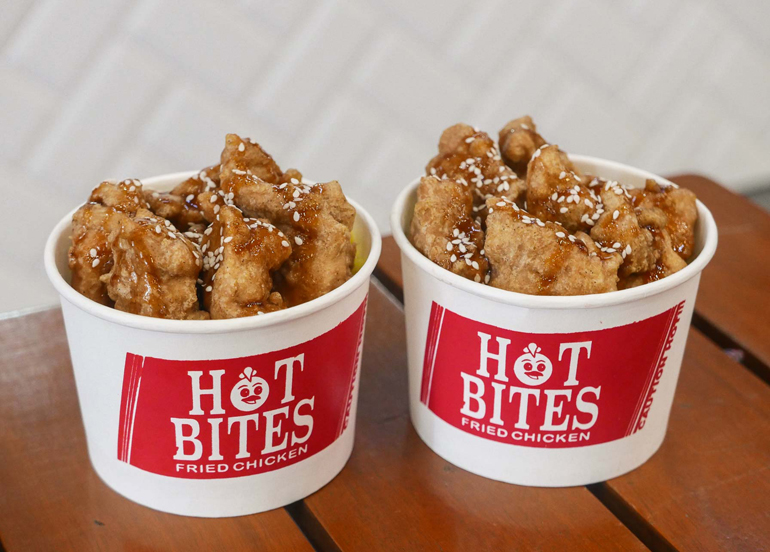 Korean Sweet and Spicy Bites with Hot Bites Logo