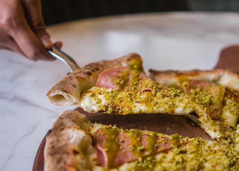 Pizza from Mamma Mia