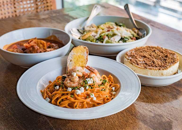 Pasta, Salad, Dessert from Lola Cafe + Bar