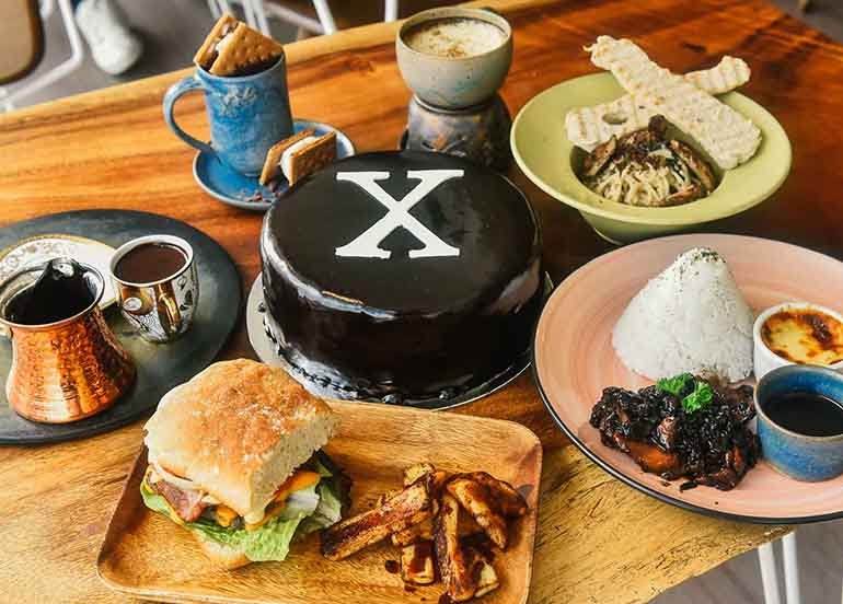 Comfort Food Dishes and Chocolate Cake from Xocolat