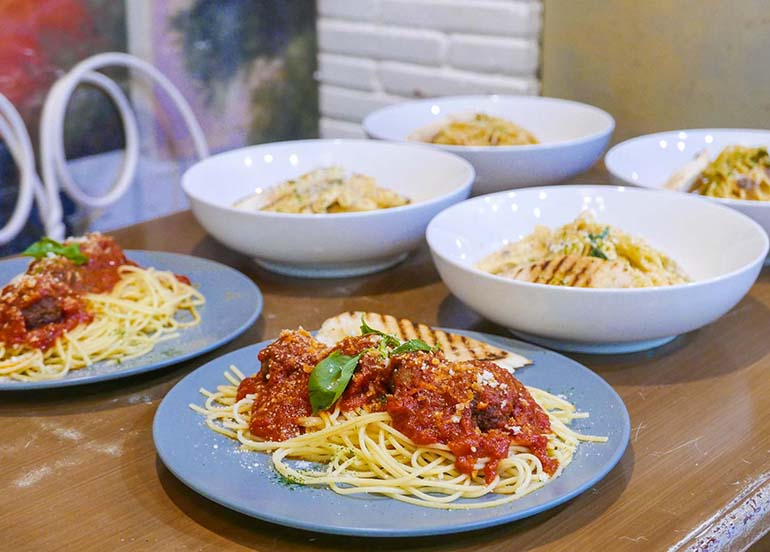 Different Kinds of Pastas from The Old Spaghetti House