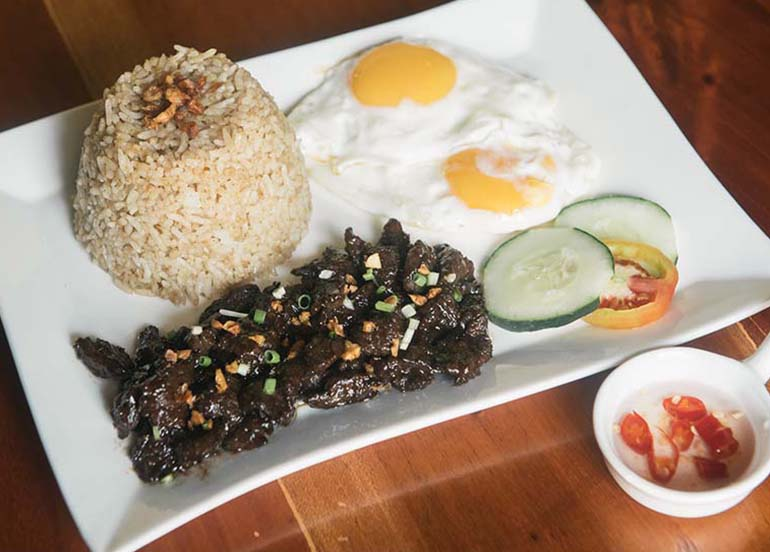 Beef Tapsilog from Casa Nieves
