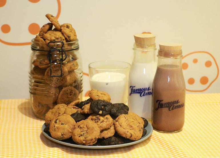Cookies and Milk from Famous Amos