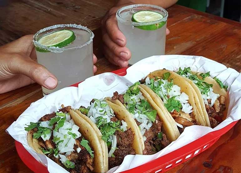 Street Tacos and Cocktail from El Chupacabra