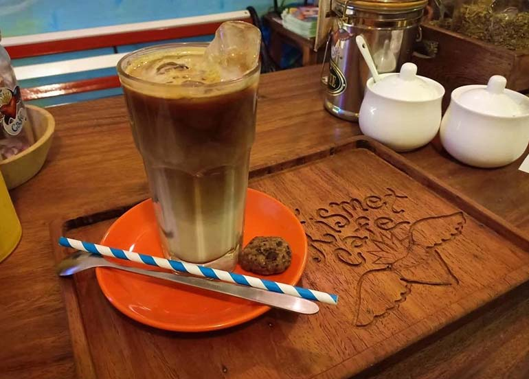 Vegan Iced Latte from The Kismet Cafe