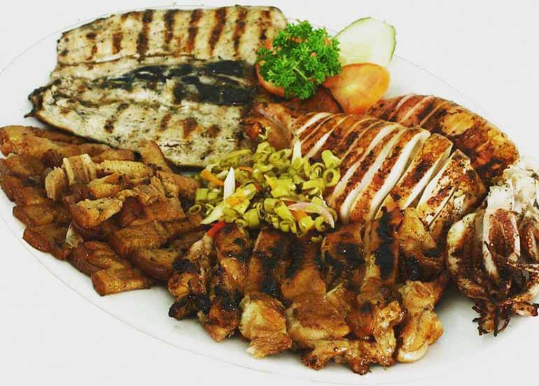 Inigaw na Pusit, Bangus, and Liempo from Giligan's Restaurant