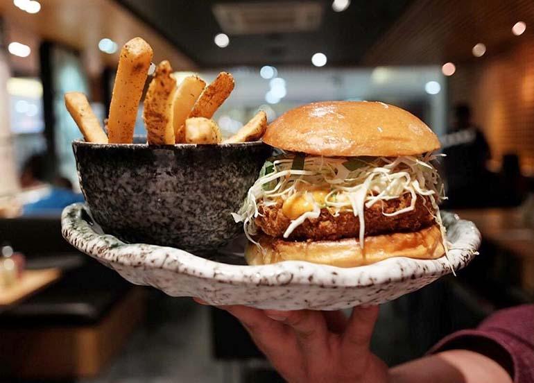 Katsu in Between Brioche Buns with Fries from Yabu: House of Katsu
