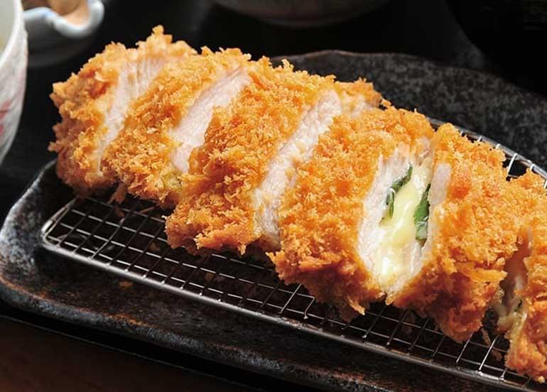 Chicken Katsu with Cheese and Ohba from Katsu Sora