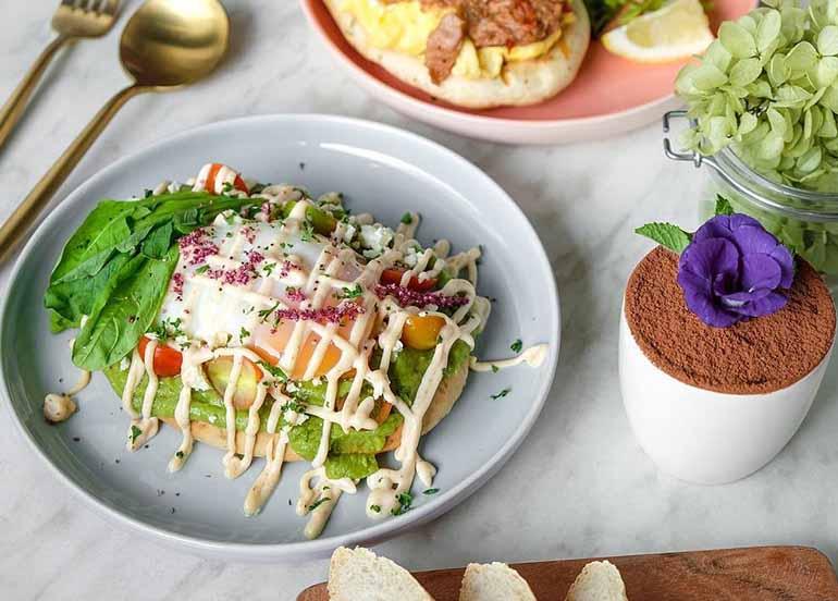 Avocado Toast with Tiramisu in Flossom Kitchen + Cafe