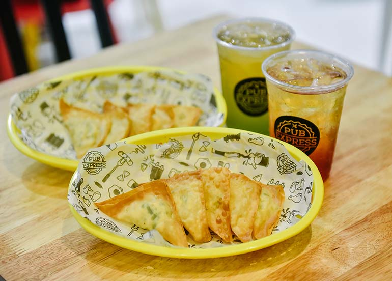 Rangoons with Flavored Beer from Pub Express