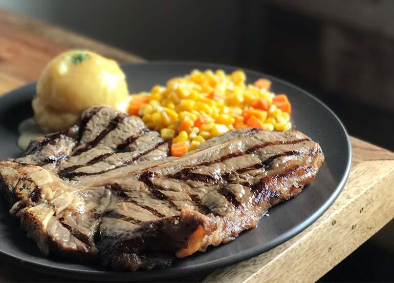 Steak from Blakes Wings and Steaks