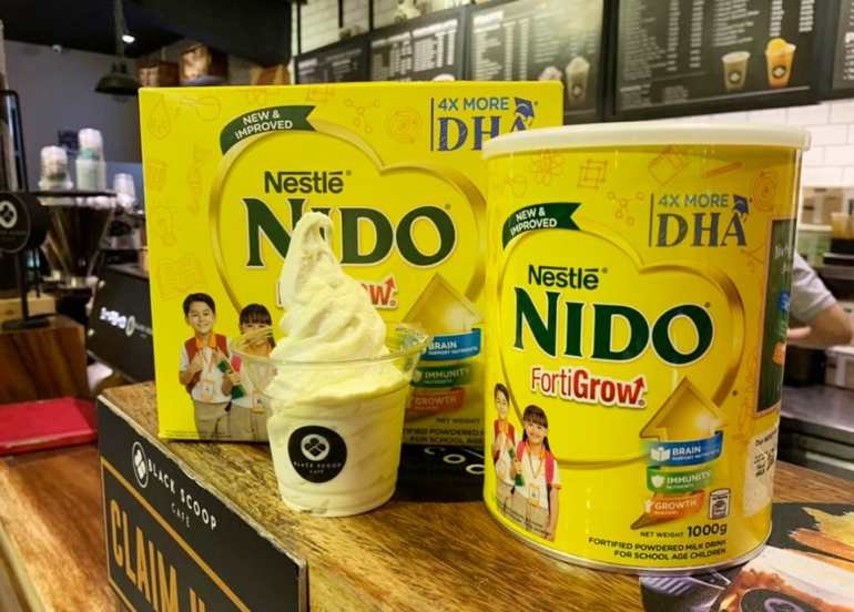nido soft serve ice cream black scoop cafe