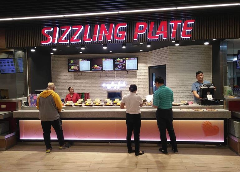 sizzling-plate-food-court-counter