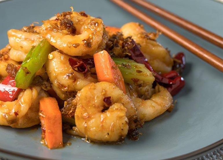 Shrimp Dish from Lugang Cafe