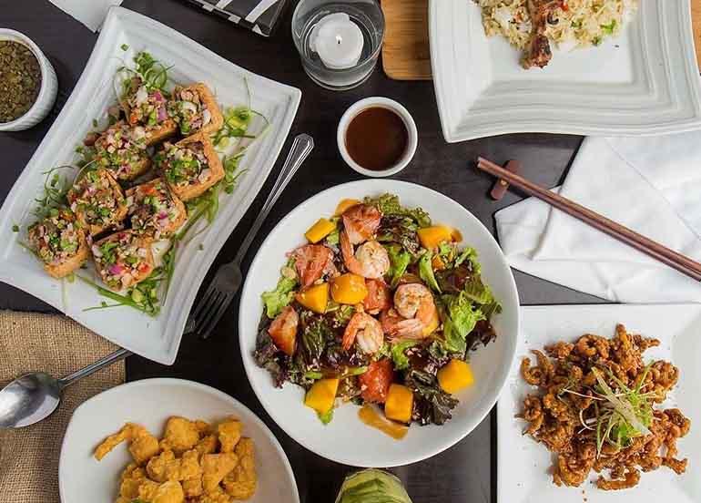 Filipino dishes from Lazat Resto Bar