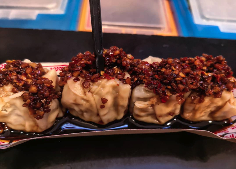 Master Siomai with Chili Garlic and Soy Sauce