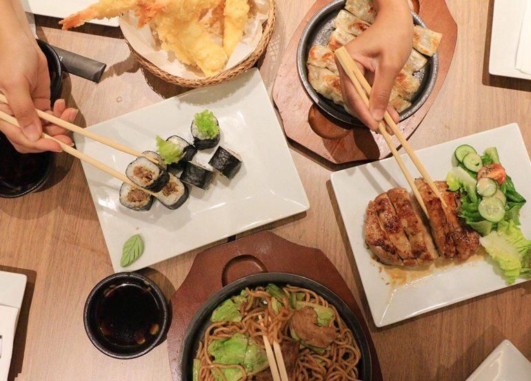 sushi-tempura-katsudon-dishes