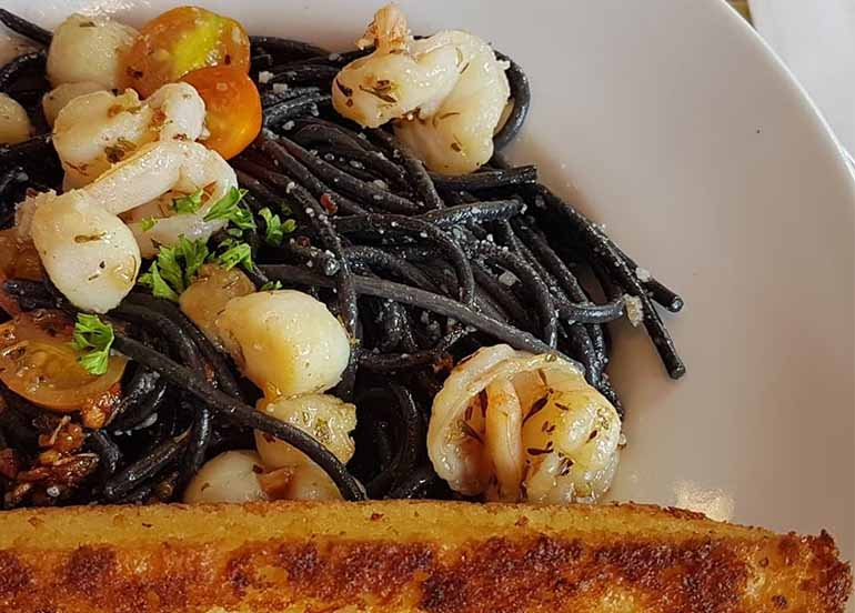 Black Seafood Pasta from Shakey's
