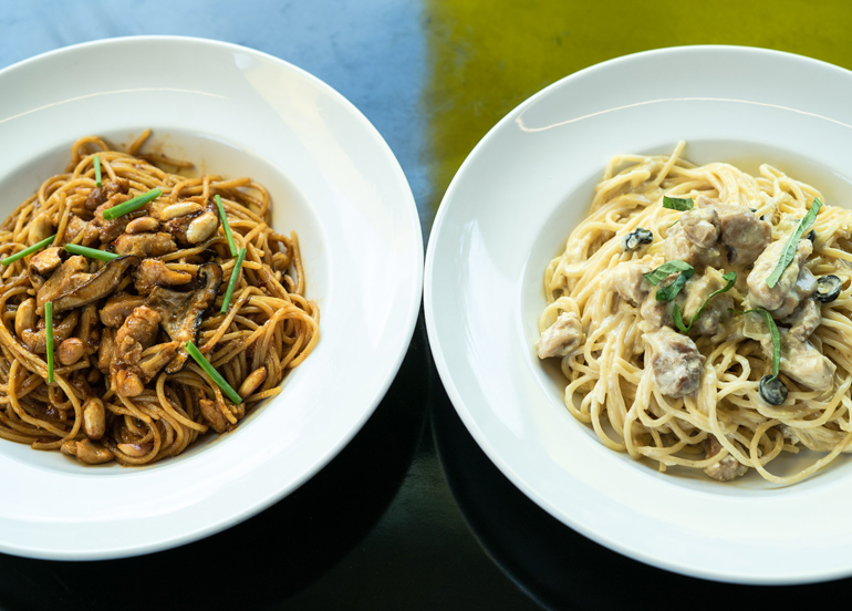 Charlie Chan and Alfredo Pastas from Yellow Cab