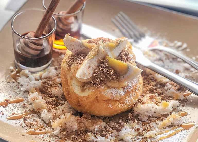 Bibingka Souffle Pancake with Chocnut from Tsokolateria