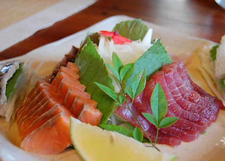 Salmon and Tuna Sashimi from Chaya