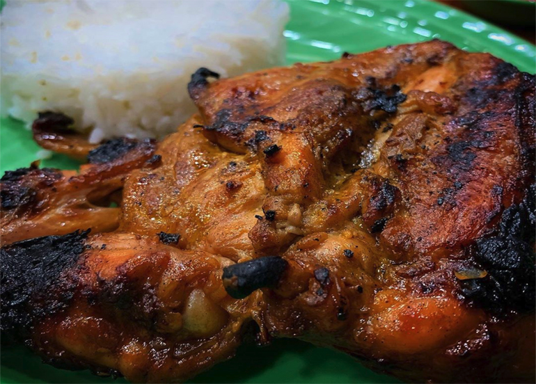 Mang Inasal Pecho with Rice in the Background