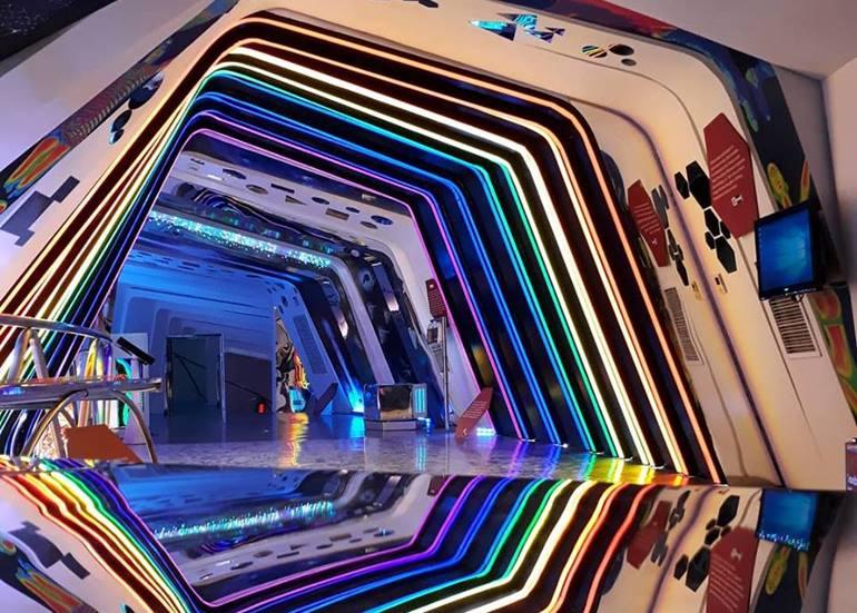 colorful-light-walkway