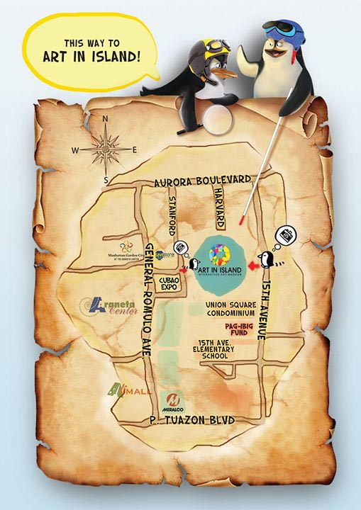 Map to Art in Island