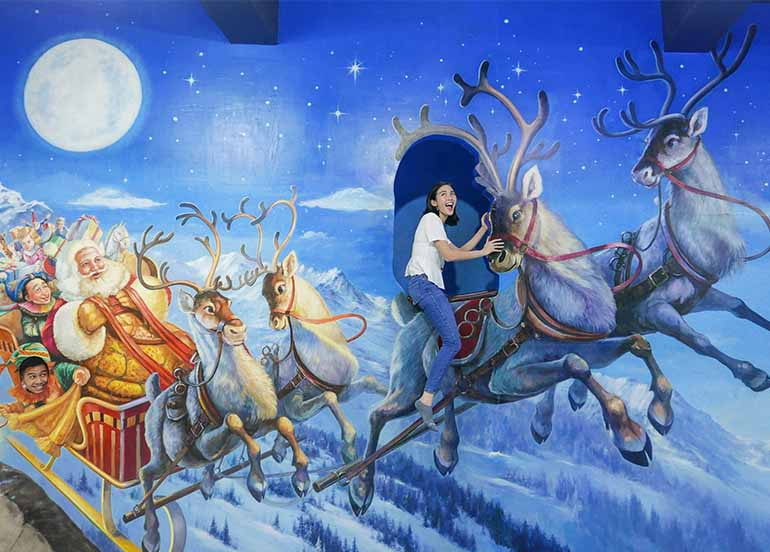 Reindeer and Sleigh from Winter and Christmas Zone Art in Island